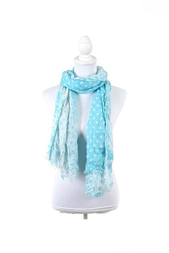 light blue dots scarf hellenic culture